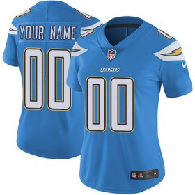 Wholesale Cheap Nike San Diego Chargers Customized Electric Blue Alternate Stitched Vapor Untouchable Limited Women\'s NFL Jersey