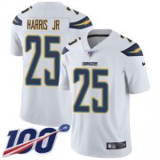 Wholesale Cheap Nike Chargers #25 Chris Harris Jr White Youth Stitched NFL 100th Season Vapor Untouchable Limited Jersey
