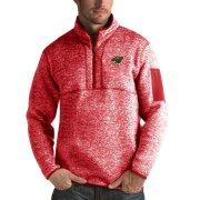 Wholesale Cheap Minnesota Wild Antigua Fortune Quarter-Zip Pullover Jacket Red