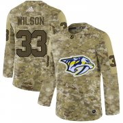 Wholesale Cheap Adidas Predators #33 Colin Wilson Camo Authentic Stitched NHL Jersey