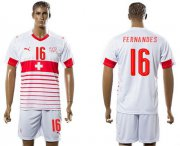 Wholesale Cheap Switzerland #16 Fernandes Away Soccer Country Jersey