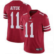 Wholesale Cheap Nike 49ers #11 Brandon Aiyuk Red Team Color Men's Stitched NFL Vapor Untouchable Limited Jersey