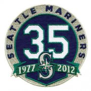 Wholesale Cheap Stitched Seattle Mariners 35th Anniversary Jersey Patch