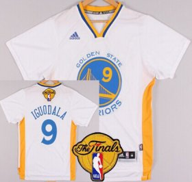Wholesale Cheap Men\'s Golden State Warriors #9 Andre Iguodala White Short-Sleeved 2017 The NBA Finals Patch Jersey