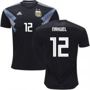 Wholesale Cheap Argentina #12 Nahuel Away Soccer Country Jersey