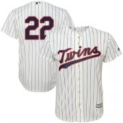Wholesale Cheap Twins #22 Miguel Sano Cream Strip Cool Base Stitched Youth MLB Jersey