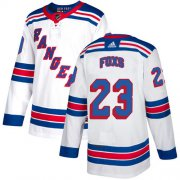 Wholesale Cheap Adidas Rangers #23 Adam Foxs White Road Authentic Stitched NHL Jersey