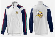 Wholesale Cheap NFL Minnesota Vikings Team Logo Jacket White_2