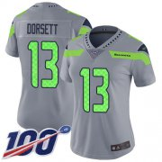Wholesale Cheap Nike Seahawks #13 Phillip Dorsett Gray Women's Stitched NFL Limited Inverted Legend 100th Season Jersey