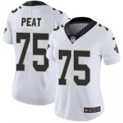 Wholesale Cheap Nike Saints #75 Andrus Peat White Women's Stitched NFL Vapor Untouchable Limited Jersey