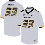 Wholesale Cheap Missouri Tigers 33 Markus Golden White Nike Fashion College Football Jersey