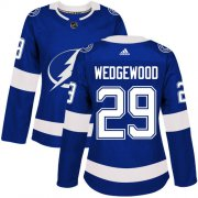 Cheap Adidas Lightning #29 Scott Wedgewood Blue Home Authentic Women's Stitched NHL Jersey