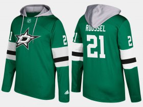 Wholesale Cheap Stars #21 Antoine Roussel Green Name And Number Hoodie