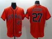 Wholesale Astros #27 Jose Altuve Orange Flexbase Authentic Collection Stitched Baseball Jersey