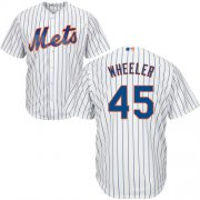 Wholesale Cheap Mets #45 Zack Wheeler White(Blue Strip) Cool Base Stitched Youth MLB Jersey