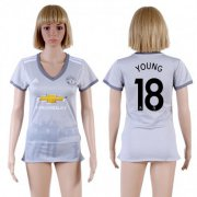 Wholesale Cheap Women's Manchester United #18 Young Sec Away Soccer Club Jersey