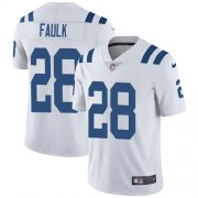 Wholesale Cheap Nike Colts #28 Marshall Faulk White Men's Stitched NFL Vapor Untouchable Limited Jersey