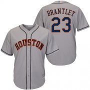 Wholesale Cheap Astros #23 Michael Brantley Grey New Cool Base Stitched MLB Jersey