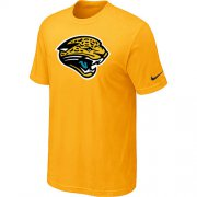 Wholesale Cheap Nike Jacksonville Jaguars Sideline Legend Authentic Logo Dri-FIT NFL T-Shirt Yellow