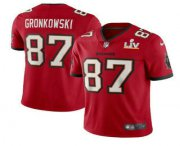 Wholesale Cheap Men's Tampa Bay Buccaneers #87 Rob Gronkowski Red 2021 Super Bowl LV Stitched Vapor Untouchable Stitched Nike Limited NFL Jersey