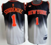Wholesale Cheap New York Knicks #1 Amare Stoudemire Black/Gray Fadeaway Fashion Jersey