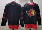 Wholesale Cheap Men's Ottawa Senators Blank Black Adidas 2020-21 Stitched NHL Jersey
