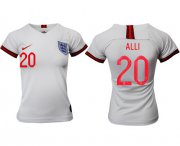 Wholesale Cheap Women's England #20 Alli Home Soccer Country Jersey