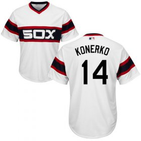 Wholesale Cheap White Sox #14 Paul Konerko White Alternate Home Cool Base Stitched Youth MLB Jersey
