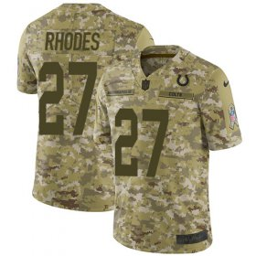 Wholesale Cheap Nike Colts #27 Xavier Rhodes Camo Men\'s Stitched NFL Limited 2018 Salute To Service Jersey