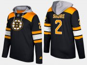 Wholesale Cheap Bruins #2 Eddie Shore Black Name And Number Hoodie