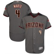 Wholesale Cheap Diamondbacks #4 Ketel Marte Gray Flexbase Authentic Collection Stitched MLB Jersey