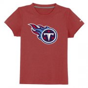 Wholesale Cheap Tennessee Titans Sideline Legend Authentic Logo Youth T-Shirt Red