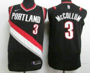 Wholesale Cheap Men's Portland Trail Blazers #3 C.J. McCollum New Black 2017-2018 Nike Authentic Stitched NBA Jersey