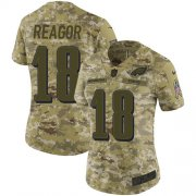 Wholesale Cheap Nike Eagles #18 Jalen Reagor Camo Women's Stitched NFL Limited 2018 Salute To Service Jersey