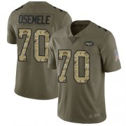 Wholesale Cheap Nike Jets #70 Kelechi Osemele Olive/Camo Men's Stitched NFL Limited 2017 Salute To Service Jersey
