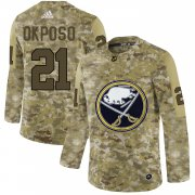 Wholesale Cheap Adidas Sabres #21 Kyle Okposo Camo Authentic Stitched NHL Jersey