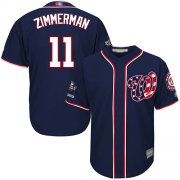Wholesale Cheap Nationals #11 Ryan Zimmerman Navy Blue New Cool Base 2019 World Series Champions Stitched MLB Jersey