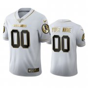 Wholesale Cheap Washington Redskins Custom Men's Nike White Golden Edition Vapor Limited NFL 100 Jersey