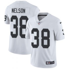 Wholesale Nike Raiders #38 Nick Nelson White Men\'s Stitched NFL Vapor Untouchable Limited Jersey