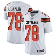 Wholesale Cheap Nike Browns #78 Jack Conklin White Youth Stitched NFL Vapor Untouchable Limited Jersey