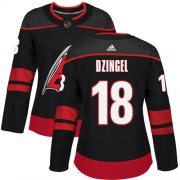 Wholesale Cheap Adidas Hurricanes #18 Ryan Dzingel Black Alternate Authentic Women's Stitched NHL Jersey