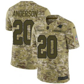 Wholesale Cheap Nike Panthers #20 C.J. Anderson Camo Men\'s Stitched NFL Limited 2018 Salute To Service Jersey