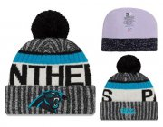 Wholesale Cheap NFL Carolina Panthers Logo Stitched Knit Beanies 006