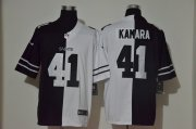 Wholesale Cheap Men's New Orleans Saints #41 Alvin Kamara Black White Peaceful Coexisting 2020 Vapor Untouchable Stitched NFL Nike Limited Jersey