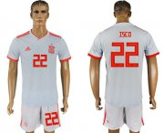 Wholesale Cheap Spain #22 Isco Away Soccer Country Jersey