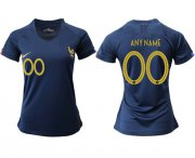 Wholesale Cheap Women's France Personalized Home Soccer Country Jersey