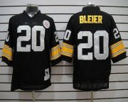 Wholesale Cheap Mitchell & Ness Steelers #20 Rocky Bleier Black Stitched Throwback NFL Jersey