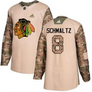 Wholesale Cheap Adidas Blackhawks #8 Nick Schmaltz Camo Authentic 2017 Veterans Day Stitched NHL Jersey