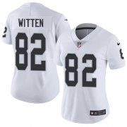Wholesale Cheap Nike Raiders #82 Jason Witten White Women's Stitched NFL Vapor Untouchable Limited Jersey