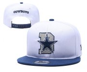 Wholesale Cheap Cowboys Team Logo White Blue Adjustable Hat YD
